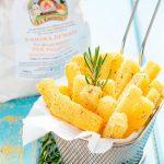 Bastoncini di polenta fritta al pepe e rosmarino
